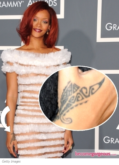 Rihanna Tribal Hand Tattoo Tattoos Pictures