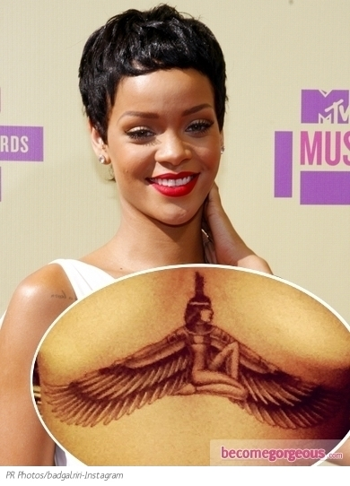 Rihanna's New Goddess Isis Tattoo