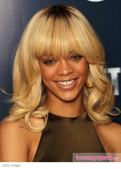 pictures rihanna rihanna blonde hair with bangs
