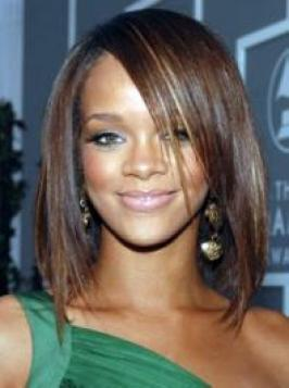 Hairstyles  Bangs on Rihanna Hairstyle7gallery Jpg