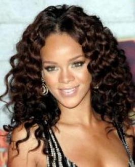 Rihanna with Full Curls