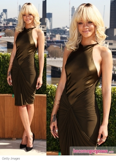 Rihanna in Alexander Wang Pre-Fall 2012 Dress