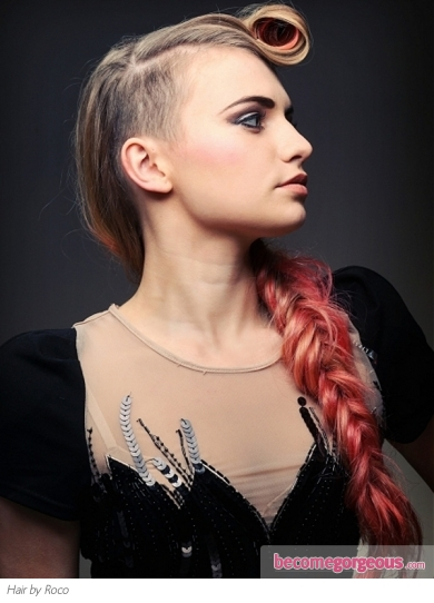 Fabulous Long Punk Braided Hairstyle