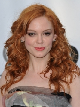 Rose McGowan Auburn Red Hairstyle