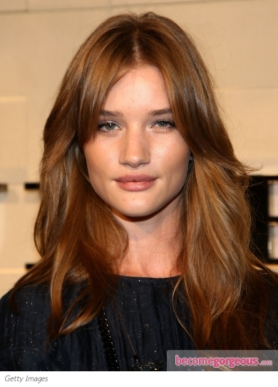 Rosie Huntington-Whiteley Light Copper Hair Color