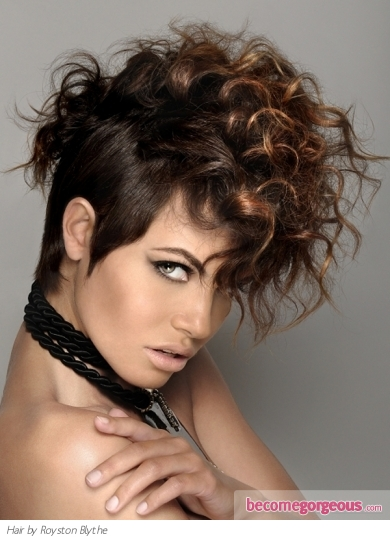Punk Girl Hairstyles pictures. Curly Mohawk Hair Style