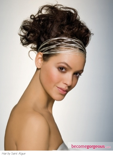 Fabulous Curly Updo Hair Style