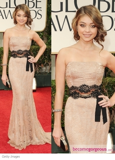 Sarah Hyland in Dolce & Gabbana at 2012 Golden Globes