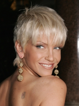 Sarah Harding with Short Haircut