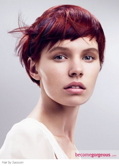 Glamorous Red Hair Highlights