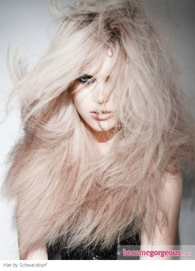 Fabulous Messy Crimped Hair Style