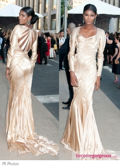 Lady Gaga attended the 2011 CFDA Fashion Awards wearing a custom made Thierry Mugler ensemble. She's also brought her little sister Natali to the event, who's a fashion student.