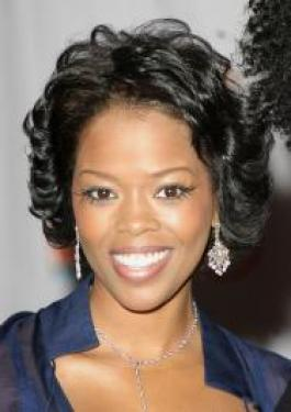 Malinda Williams with Short Curly Hairstyle