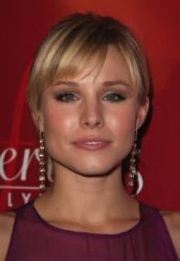 Kristen Bell's Updo with Bangs
