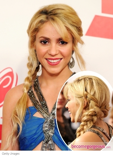 Shakira Side Braid Hairstyle