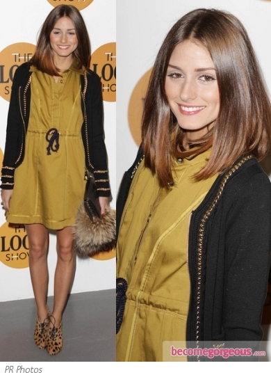 Olivia Palermo in Reiss Shirt Dress