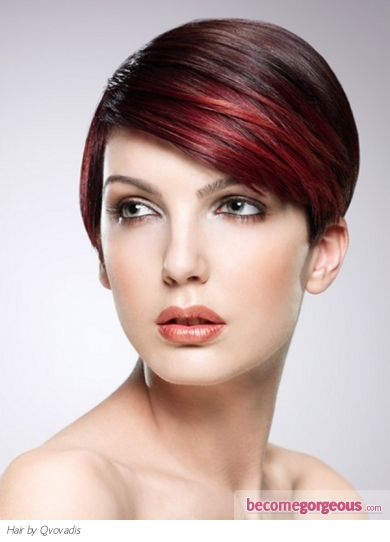 Stylish Red Hair Highlights
