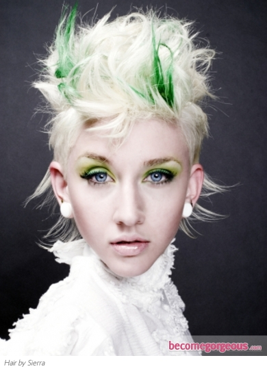 Green and Blonde Hair Style