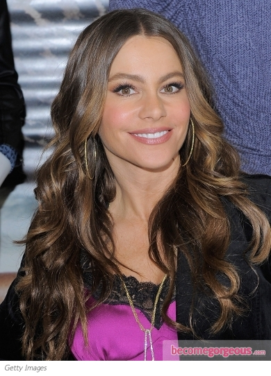 Sofia Vergara Loose Curls Hairstyle