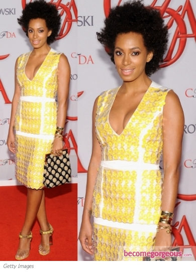 Solange Knowles in Marni Yellow Dress