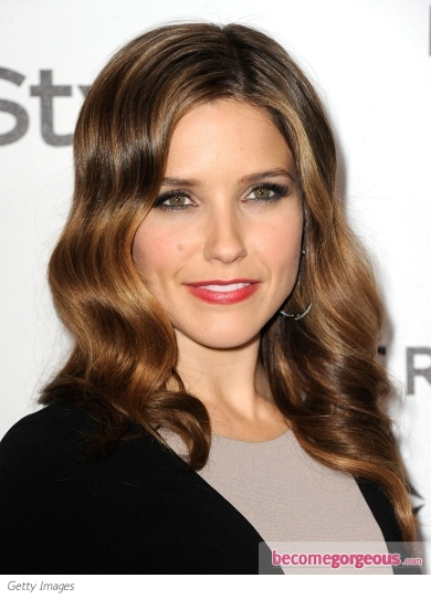 Sophia Bush Smooth Waves Hairstyle