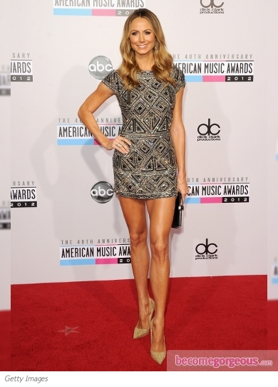 Stacy Kiebler in Collette Dinnigan at the 2012 AMAs