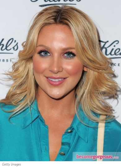 Stephanie Pratt Feathered Wavy Hairstyle