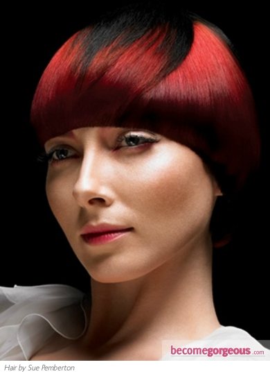 Two Tone Red Hair Color Idea