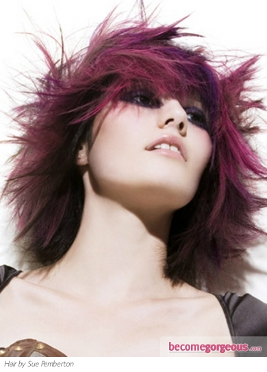 Purple Punk Hair Color Idea