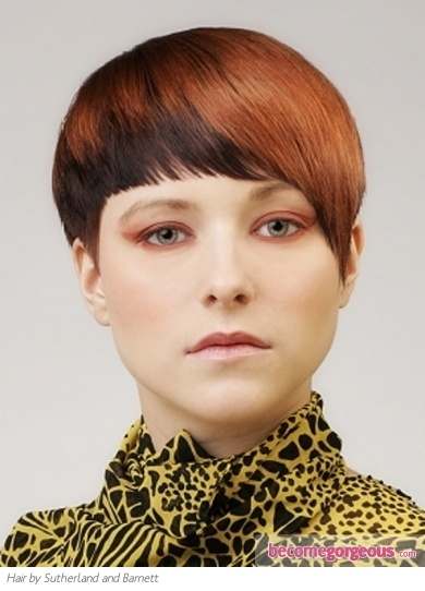 Short Two Tone Red Hair Style