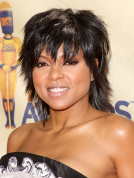Taraji P Henson Layered Mullet Haircut