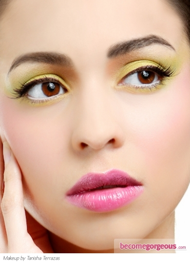 Party Perfect Yellow and Green Eye Makeup