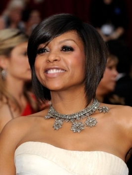 Taraji P Henson's Bob Haircut at Oscars 2009