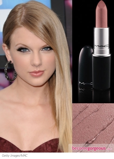 MAC Hue Lipstick on Taylor Swift
