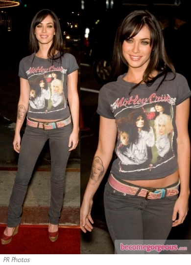 Megan Fox in Jeans and T-Shirt