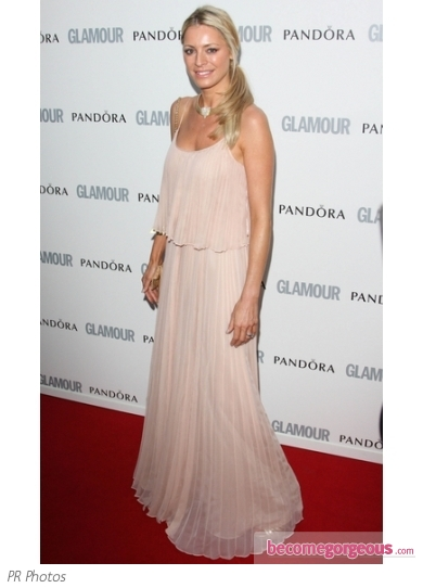 Tess Daly in Halston Hertage