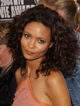 Thandie Newton's shoulder-length hairstyle works beautifully with her heart shaped face. Long layers have been sliced into her lengths to add movement around her face. Use a good hair brush while blow-drying and run a flat iron through top layers to encourage the silky finish.