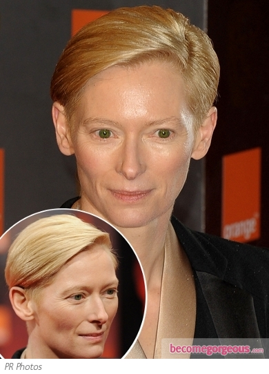 Tilda Swinton Short Blonde Haircut