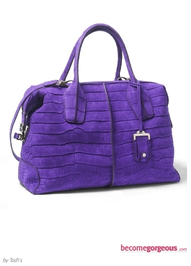 Tod's Bright Purple Bag