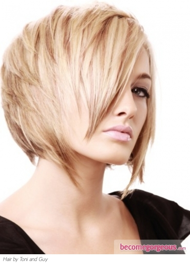 Heavy Layered Bob Hairstyle