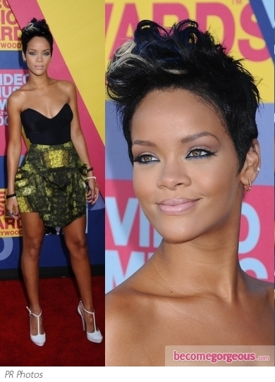 Rihanna in Peter Pilotto Skirt