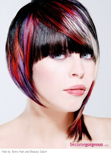 Voguish Colorful Hair Style Idea