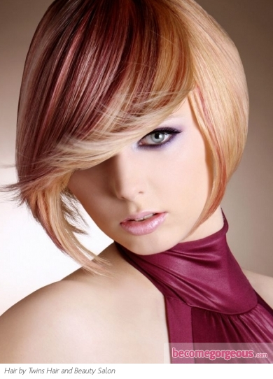 Fabulous Two Tone Bob Hair Style