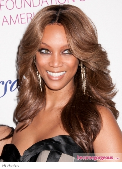 Tyra Banks 70s Style Feathery Hairstyle