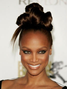 Tyra Banks Structured Knotted Bun