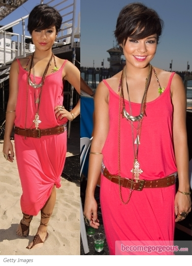 Vanessa Hudgens in Hurley Waterfall Dress