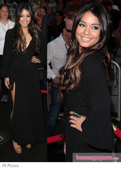 Vanessa Hudgens in Ossie Clark Wrap Dress