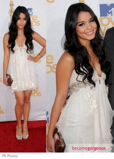 Vanessa Hudgens in Jenny Packham Jewelled Dress