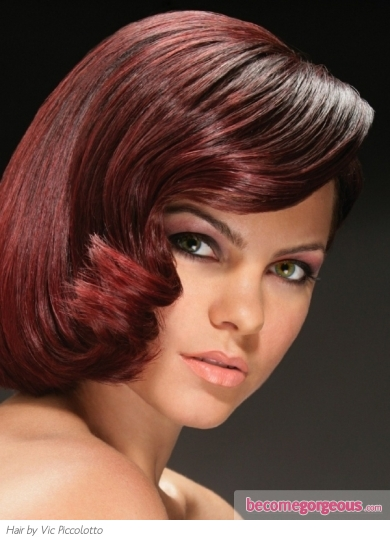 Glamorous Red Hair Color Idea