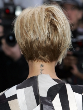 ... Beckham Graduated Bob Back View - Victoria Beckham Hairstyles Pictures